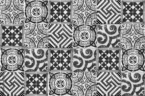 Poster Maroc Background of vintage ceramic tiles