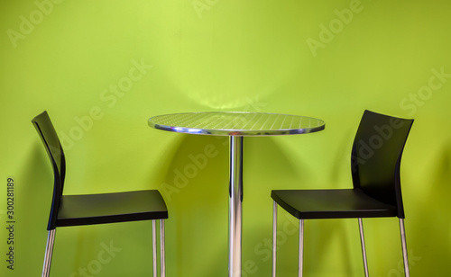 Table and chairs Wallpaper Mural