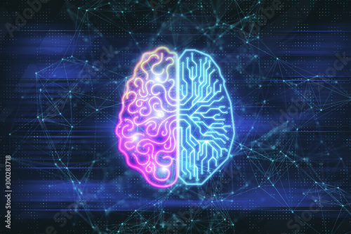 Obraz na plátně Creative digital brain