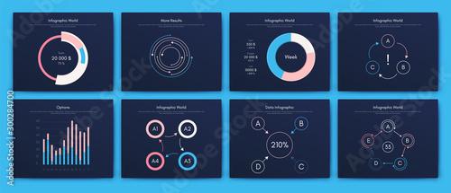 Obraz Infographic vector brochure elements for business illustration - fototapety do salonu
