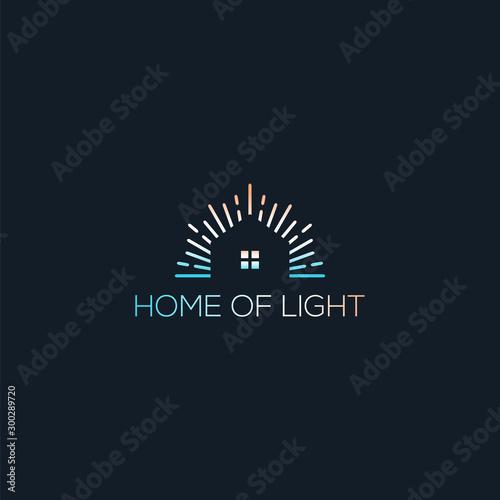 home of light logo line Wall mural