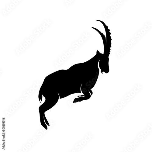 Leinwand Poster Goat Logo Design Vector. Goat logo Template