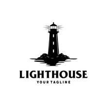 Lighthouse By The Sea With Oce...