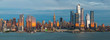 Panoramic view to West Side of Manhattan Skyline from Hamilton Park, Weehawken, across Hudson River.
