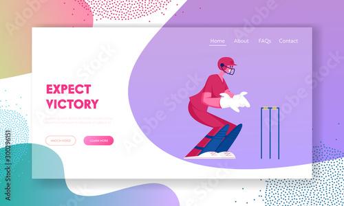 Fotografie, Obraz  Cricket Tournament, Competition Website Landing Page