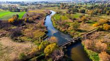 Curvy Nida River Bends In Swie...