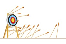 Many Arrows Missed Hitting Tar...