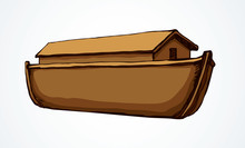 Biblical Noah's Ark. Vector Drawing