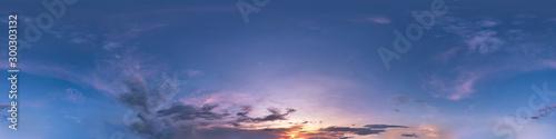 Seamless dark sky before sunset hdri panorama 360 degrees angle view with beauti Canvas Print