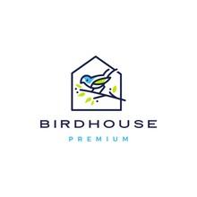 Bird House Logo Vector Icon Il...