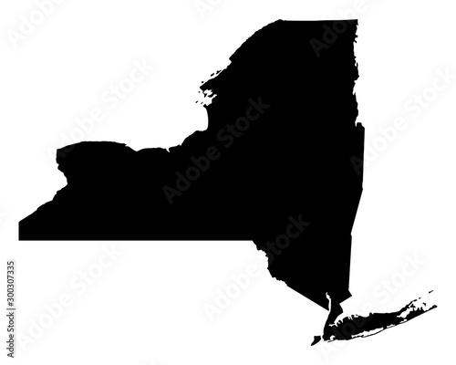 Fototapeta Karte von New York obraz