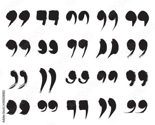 Valokuvatapetti Speech Marks, Quote Sign Icons