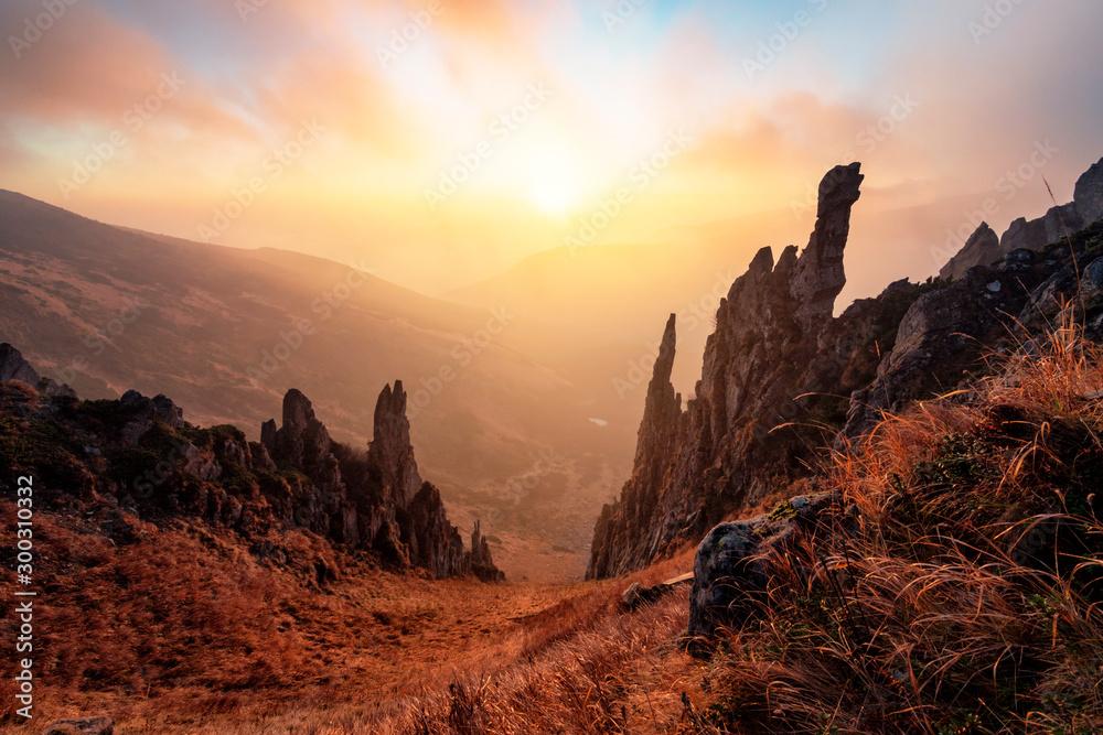 Fototapety, obrazy: Beautiful rocks at sunrise