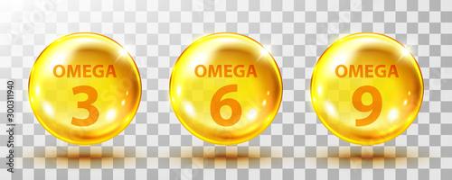Photo Vector realistic omega acids