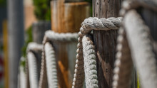 Log And Rope Fence, Shallow De...
