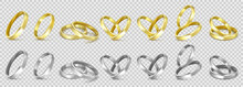 Vector Gold And Silver Wedding...