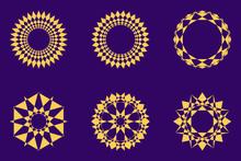 Different Abstract Geometric Design Element Set. Vector Illustration.