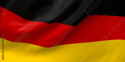 National Fabric Wave Closeup Flag of Germany Waving in the Wind Wallpaper Mural