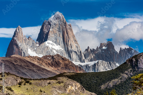 Mount Fitz Roy at Los Glaciares National Park in Argentina