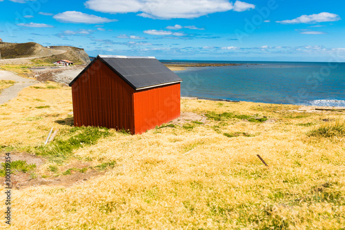 Fisherman's cottage near the coast in Tierra del Fuego