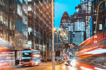 Londonski pogled na grad noću