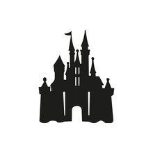 Castle Logo Icon Vector Illust...