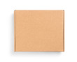 canvas print picture - closed box on top on an isolated white background