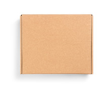 Closed Box On Top On An Isolated White Background