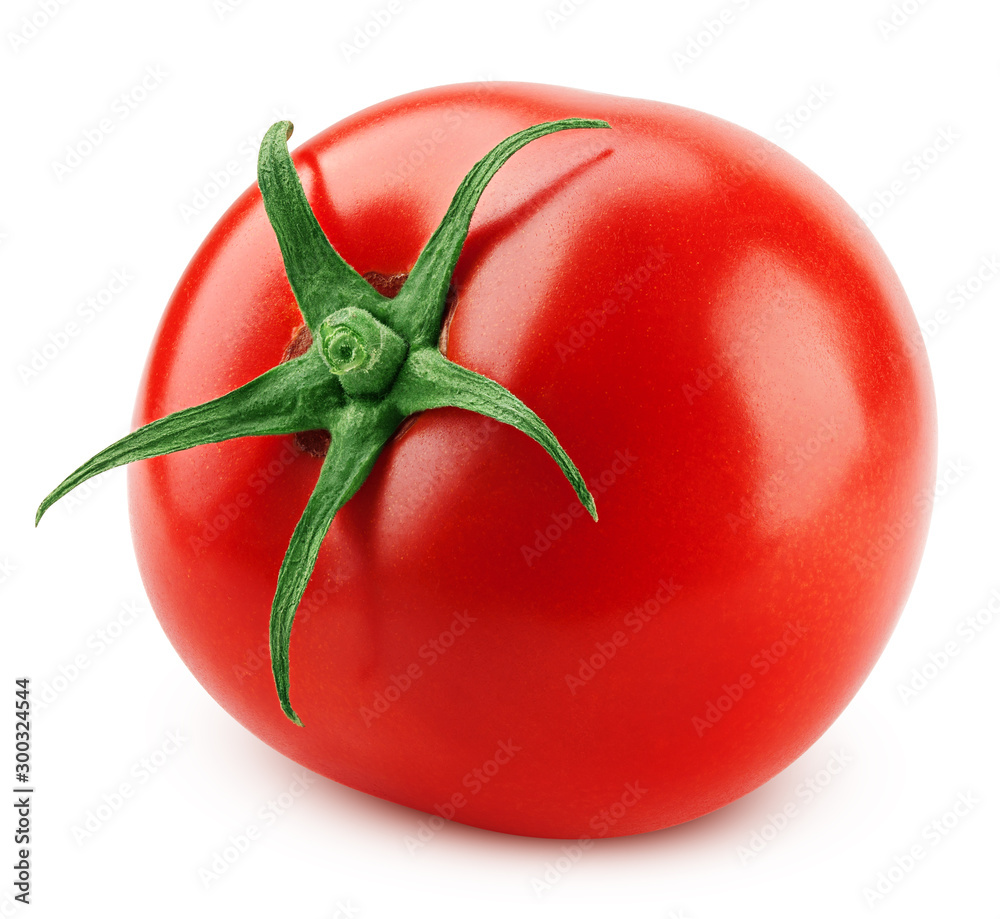 Fototapety, obrazy: tomato isolated on white background, clipping path, full depth of field