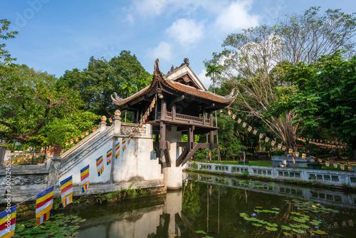 One Pillar pagoda, often used as a symbol for Hanoi, in Hanoi, Vietnam Tapéta, Fotótapéta