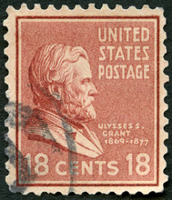 USA - 1937: Shows Portrait Hiram Ulysses S Grant (1822-1885), Presidential Issue, 1937
