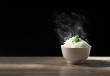 Cooked Jasmine Rice With Hot S...