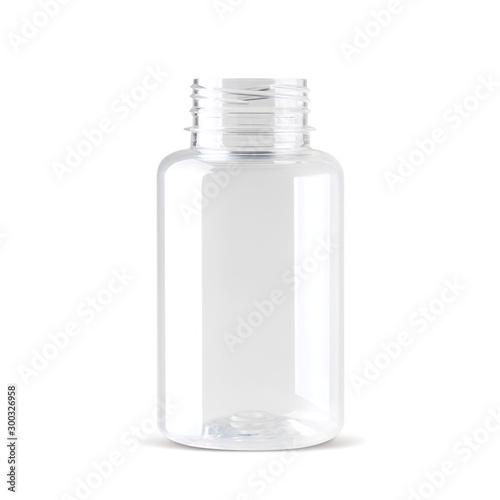 Realistic bottle without cap Fototapet