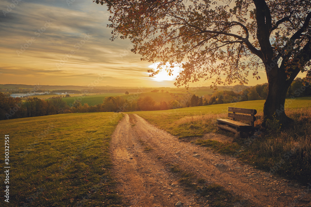 Fototapeta Schöner Ausblick im Herbst