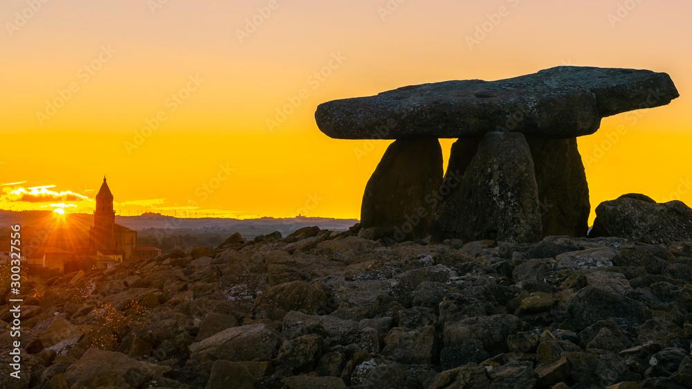 Fototapety, obrazy: Dolmen of Chabola de la Hechicera, Elvillar, Basque Country, Spain