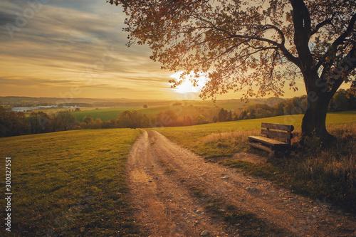 Schöner Ausblick im Herbst - fototapety na wymiar