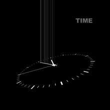 White Clock On A Black Backgro...