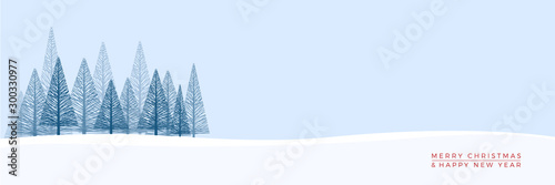 Obraz Christmas. Abstract vector illustration. Winter landscape background. - fototapety do salonu