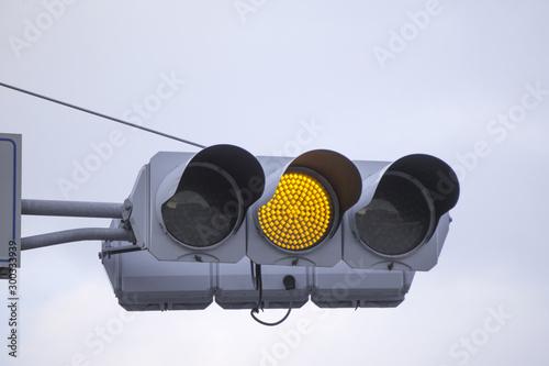 Fototapeta 黄色信号 信号機 obraz na płótnie