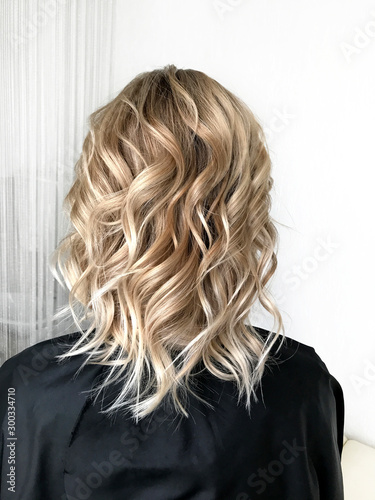 Short blond hair with balayage