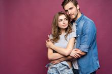 Happy Loving Couple Isolated I...