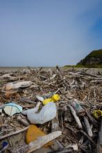Plastic Pollution Nets Bottles...