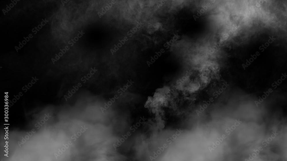 Fototapeta nature fog on black background