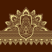 Seamless Borders Pattern With ...
