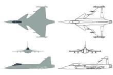 New Brazilian Military Fighter Plane Colored.