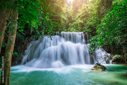 Huai Mae Khamin Waterfall level 3, Khuean Srinagarindra National Park, Kanchanaburi, Thailand - 300344547