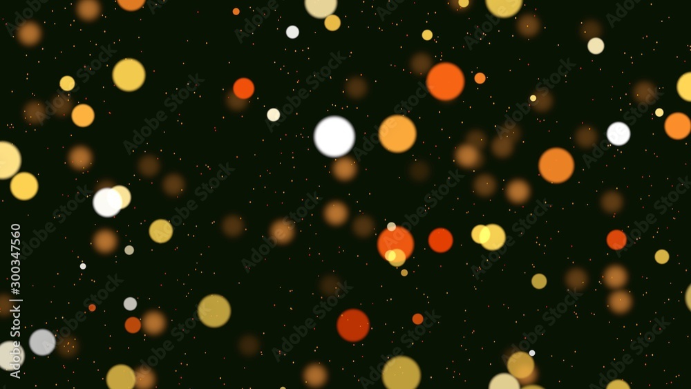 Fototapety, obrazy: Abstract bokeh particles falling. Happy New Year background