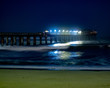 canvas print picture - Night shots of the Jetty in Swakopmund, Namibia 1