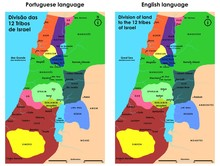 Division Of The 12 Tribes Of Israel