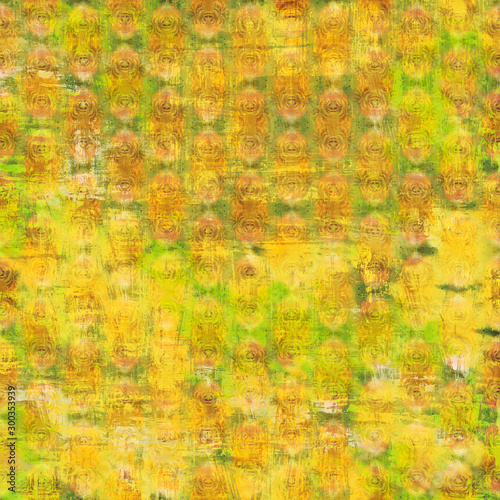 Yellow shabby vintage patterned background